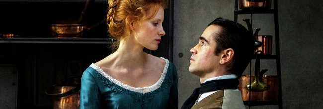 Jessica Chastain y Colin Farrell en La señorita Julia