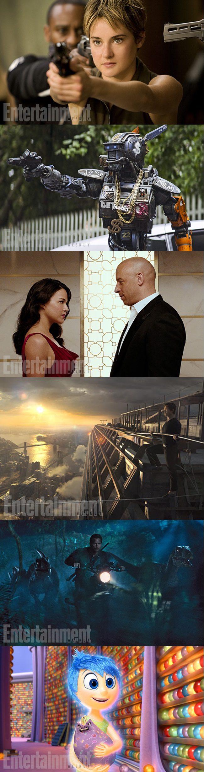 Nuevas imágenes de 'La serie Divergente: Insurgente', 'Chappie', 'Furious 7', 'The Walk', 'Jurassic World' e 'Inside Out'