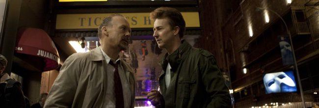 Michael Keaton y Edward Norton en 'Birdman'