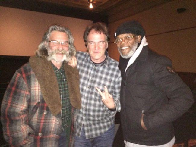 Kurt Russell, Quentin Tarantino y Samuel L. Jackson