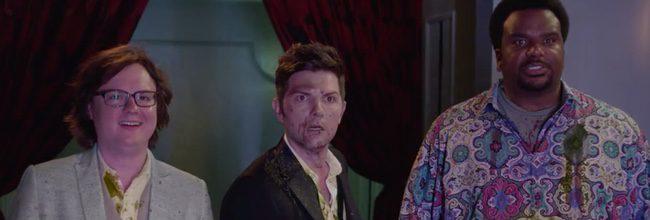 Adam Scott, Clark Duke y Crais Robinson en 'Jacuzzi al pasado 2'
