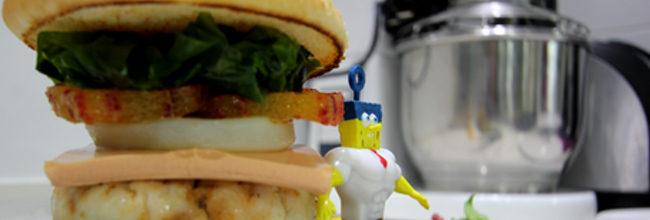 Aprende a preparar la auténtica Burger Cangreburger de la mano de Bob Esponja
