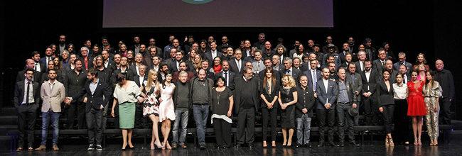 Foto de familia de los nominados a los Goya 2015