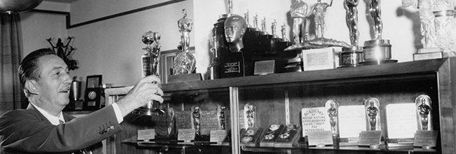 Walt Disney y su asombrosa colección de premios