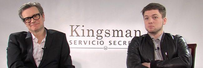 Colin Firth y Taron Egerton en Madrid