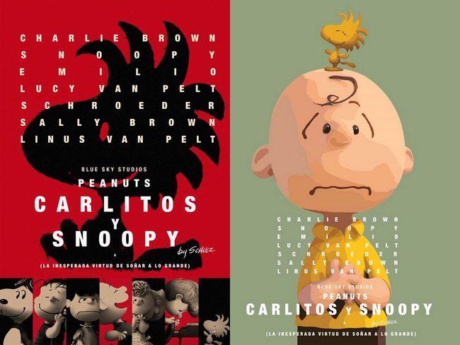 Carlitos y Snoopy en los pósters de 'Birdman'