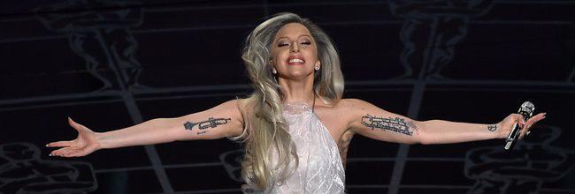 Lady Gaga durante la ceremonia de los Oscar 2015