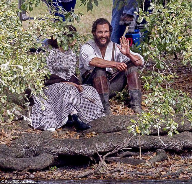 Matthew McConaughey en el set de rodaje de 'The Free State of Jones'