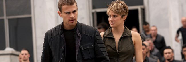Shailene Woodley y Theo James en 'La serie Divergente: Insurgente'