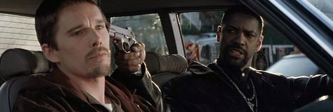 Ethan Hawke y Denzel Washington en 'Training Day'