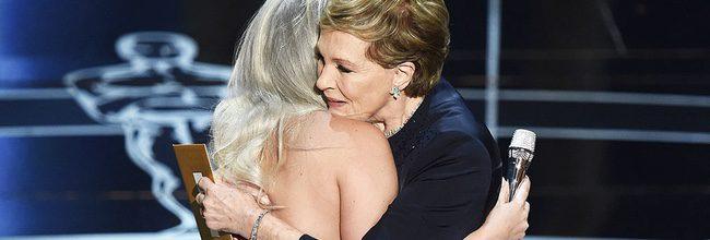 Lady Gaga y Julie Andrews en los Oscar 2015