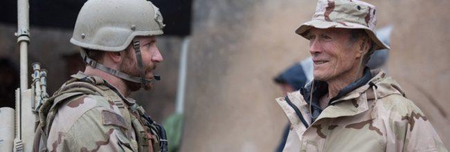 Bradley Cooper y Clint Eastwood en el rodaje de 'El francotirador'