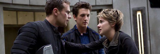 Theo James, Miles Teller y Shailene Woodley en 'La serie Divergente: Insurgente'