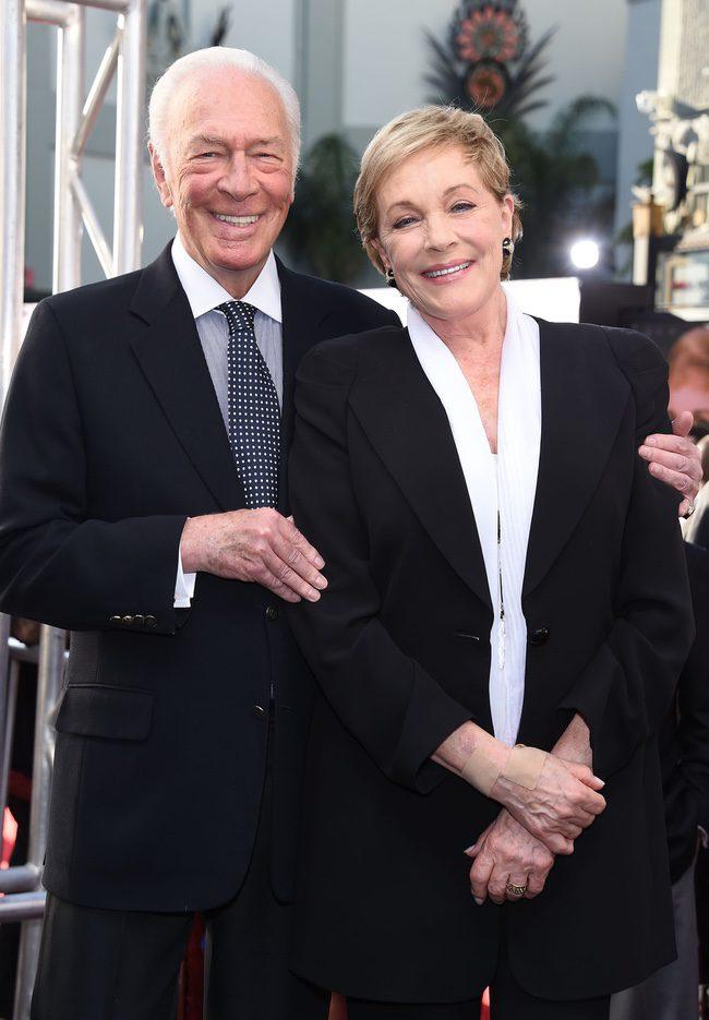 Christopher Plummer y Julie Andrews en el 50 aniversario de 'Sonrisas y lágrimas' en Hollywood