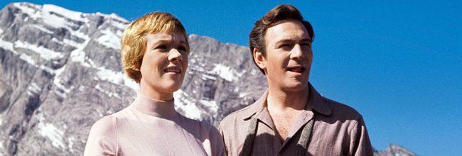 Julie Andrews y Christopher Plummer en el rodaje de 'Sonrisas y lágrimas'