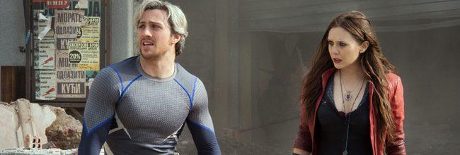 Aaron Taylor-Johnson y Elizabeth Olsen en 'Vengadores: La era de Ultrón'