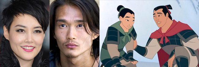 Rinko Kikuchi y Karl Yune en 'Mulan'