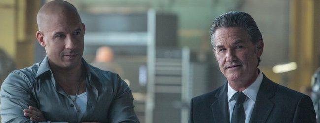Vin Diesel y Kurt Russell en 'Fast & Furious 7'