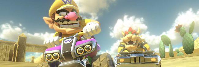 Wario y Bowser en Mario Kart