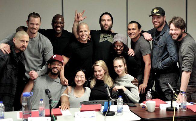 El director y los protagonistas de 'Escuadrón suicida' en una lectura de guion