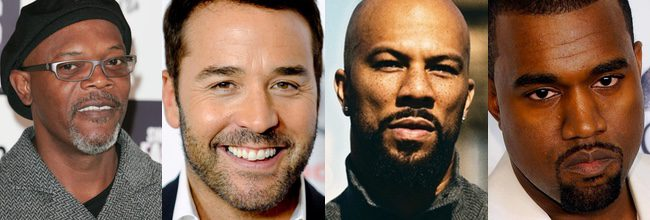 Samuel L. Jackson, Jeremy Piven, Common y Kanye West