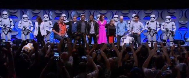 El equipo de 'El despertar de la fuerza' en la 'Star WARS Celebration'