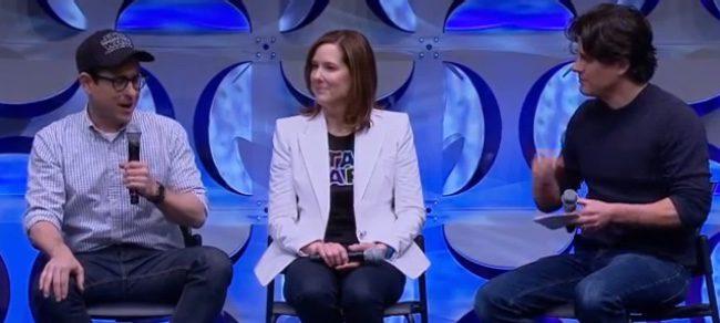 J.J. Abrams y Kathleen Kennedy en la Star Wars Celebration