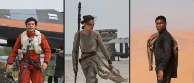 Los protagonistas de Star Wars: El despertar de la Fuerza
