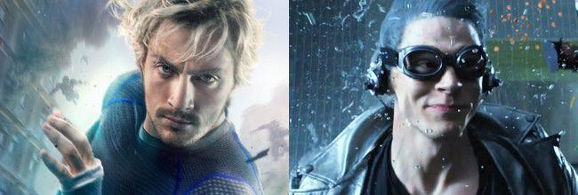 Aaron Taylor-Johnson en 'Vengadores: La era de Ultrón' y Evan Peters en 'X-Men: Días del futuro pasado'