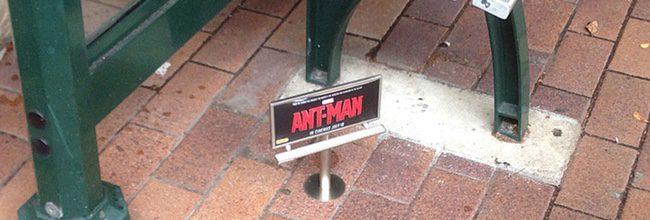 Marvel promociona 'Ant-Man' con vallas publicitarias en miniatura