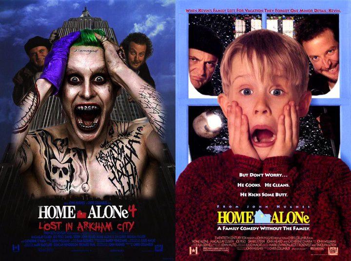 Imagen comparando 'Solo en casa' con el Joker de Jared Leto