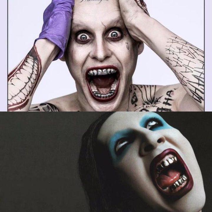 Imagen comparando al Joker de Jared Leto y Marilyn Manson