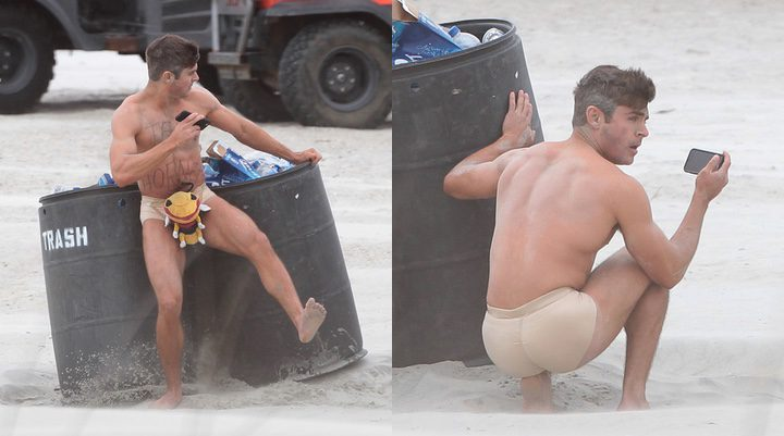 Zac Efron en el rodaje de 'Dirty Grandpa'