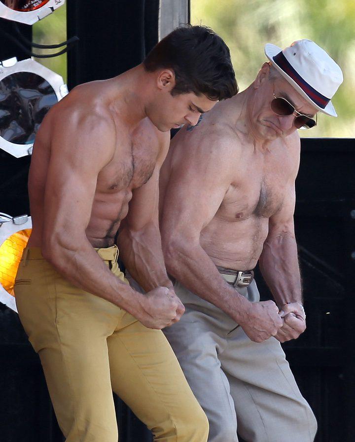 Zac Efron y Robert De Niro en el rodaje de 'Dirty Grandpa'