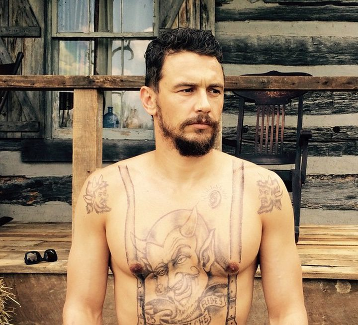 James Franco en el rodaje de 'The Long Home'