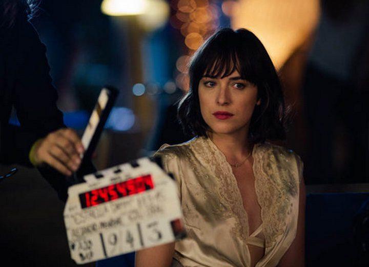 Dakota Johnson en el rodaje de un cortometraje de Alejandro Amenábar