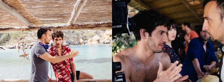 Quim Gutiérrez y Dakota Johnson en el rodaje de un cortometraje de Alejandro Amenábar