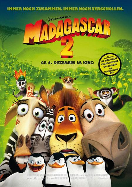 Cartel promocional de 'Madagascar 2'
