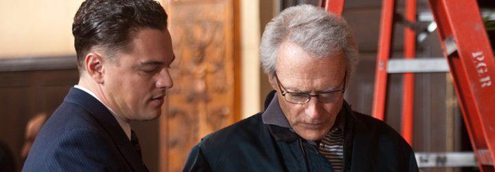 Leonardo DiCaprio y Clint Eastwood en el rodaje de 'J. Edgar'