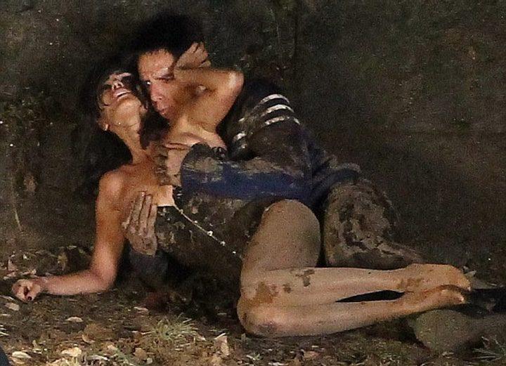 Penélope Cruz y Ben Stiller en el rodaje de Zoolander 2 en Roma
