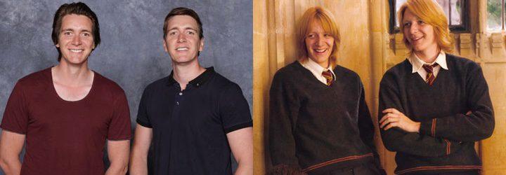 George y Fred Weasley de 'Harry Potter' y Oliver y James Phelps