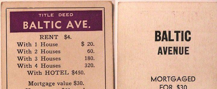 Tarjeta de la versión americana del Monopoly