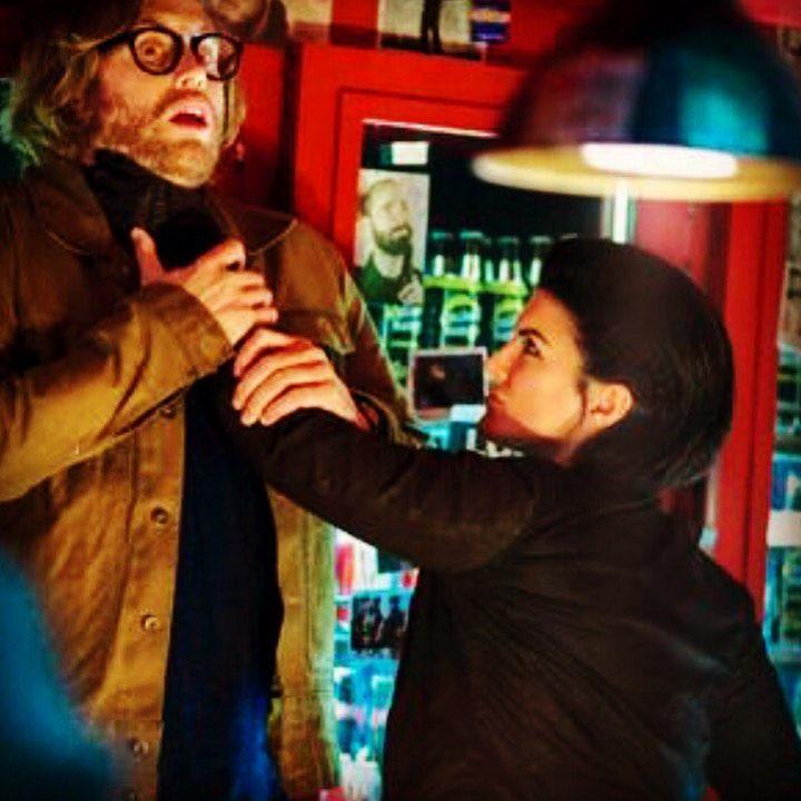 Gina Carano y T.J. Miller en 'Masacre (Deadpool)'