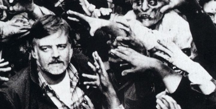 Romero en 1968, rodeado de sus zombies