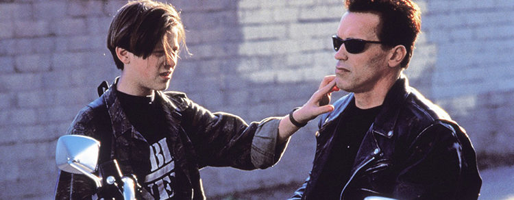 Edward Furlong y Arnold Schwarzenegger