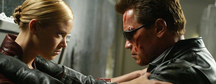 Kristanna Loken y Arnold Schwarzenegger