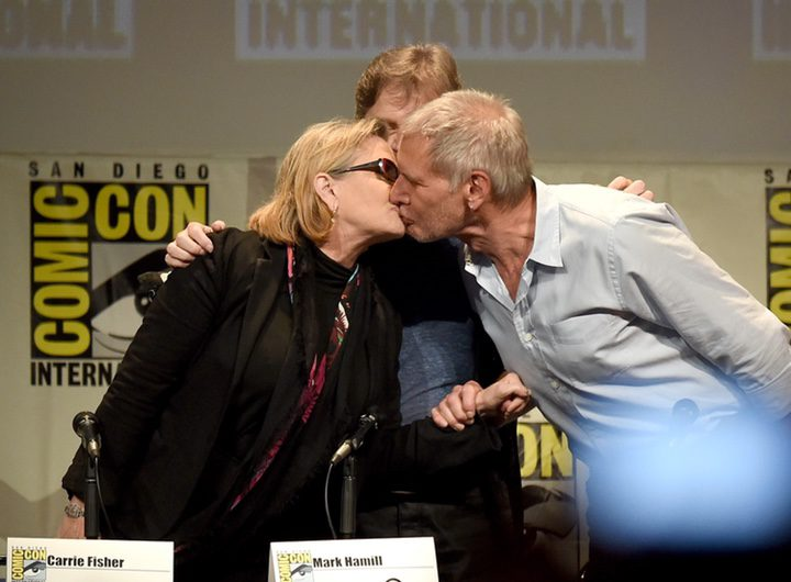El beso entre Han Solo y Leia