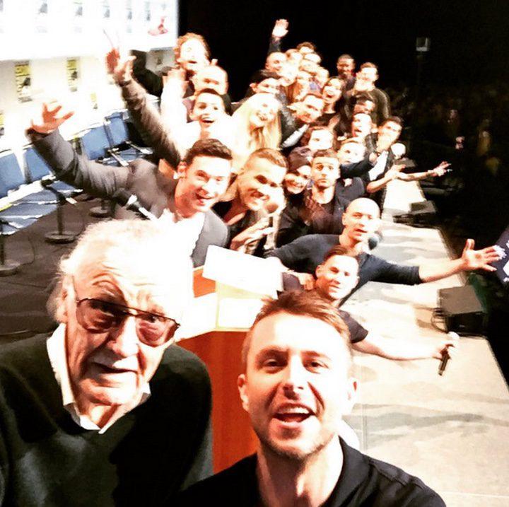 Selfie de los superhéroes de Fox en la Comic-Con 2015