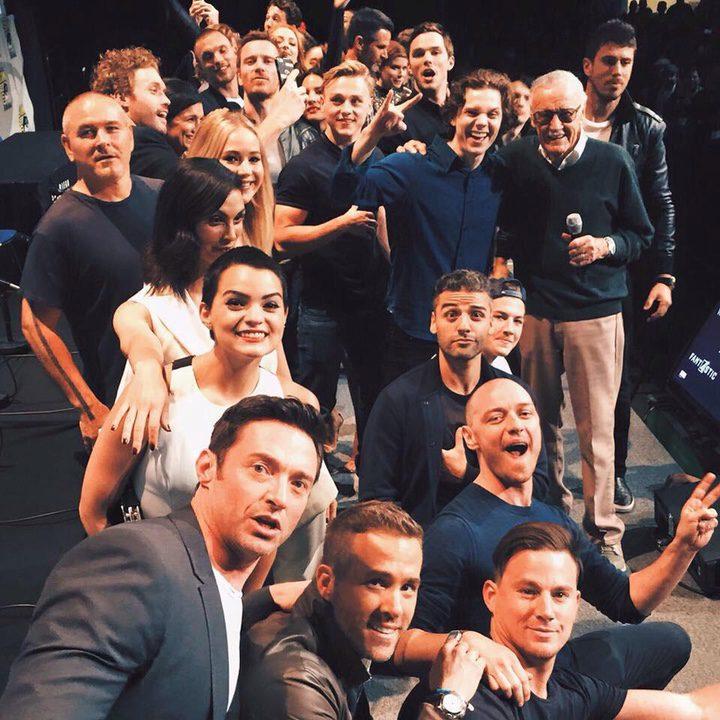 El selfie de los superhéroes en la Comic-Con 2015