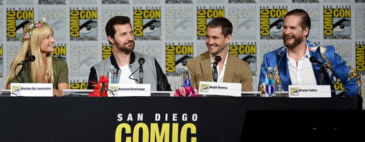 Martha De Laurentiis, Richard Armitage, Hugh Dancy y Bryan Fuller.